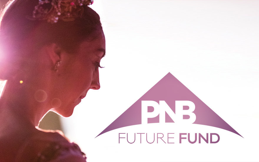 Angelica Generosa warming up while wearing a tiara with the PNB Future Fund logo. Please click to donate to the Future Fund.