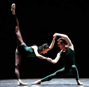 Ariana Lallone and Jeffrey Stanton in In the middle, somewhat elevated. Photo © Angela Sterling