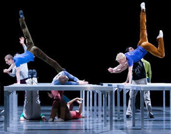 PNB Company dancers in One Flat Thing, Reproduced. Photo © Angela Sterling