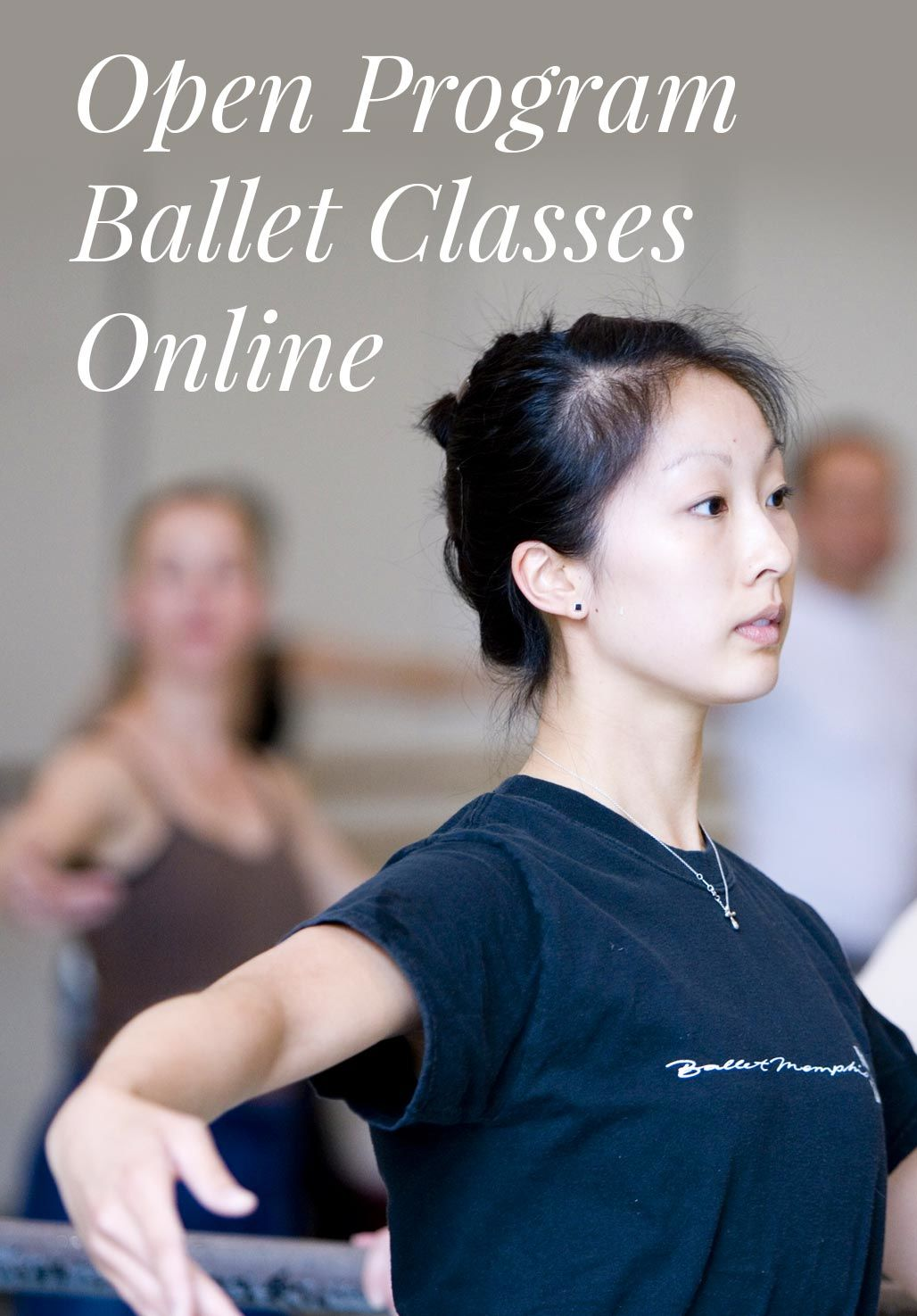 Pacific Northwest Ballet Open Program Ballet and Conditioning Classes are Now Online. Photo is of people taking a class in the studio.