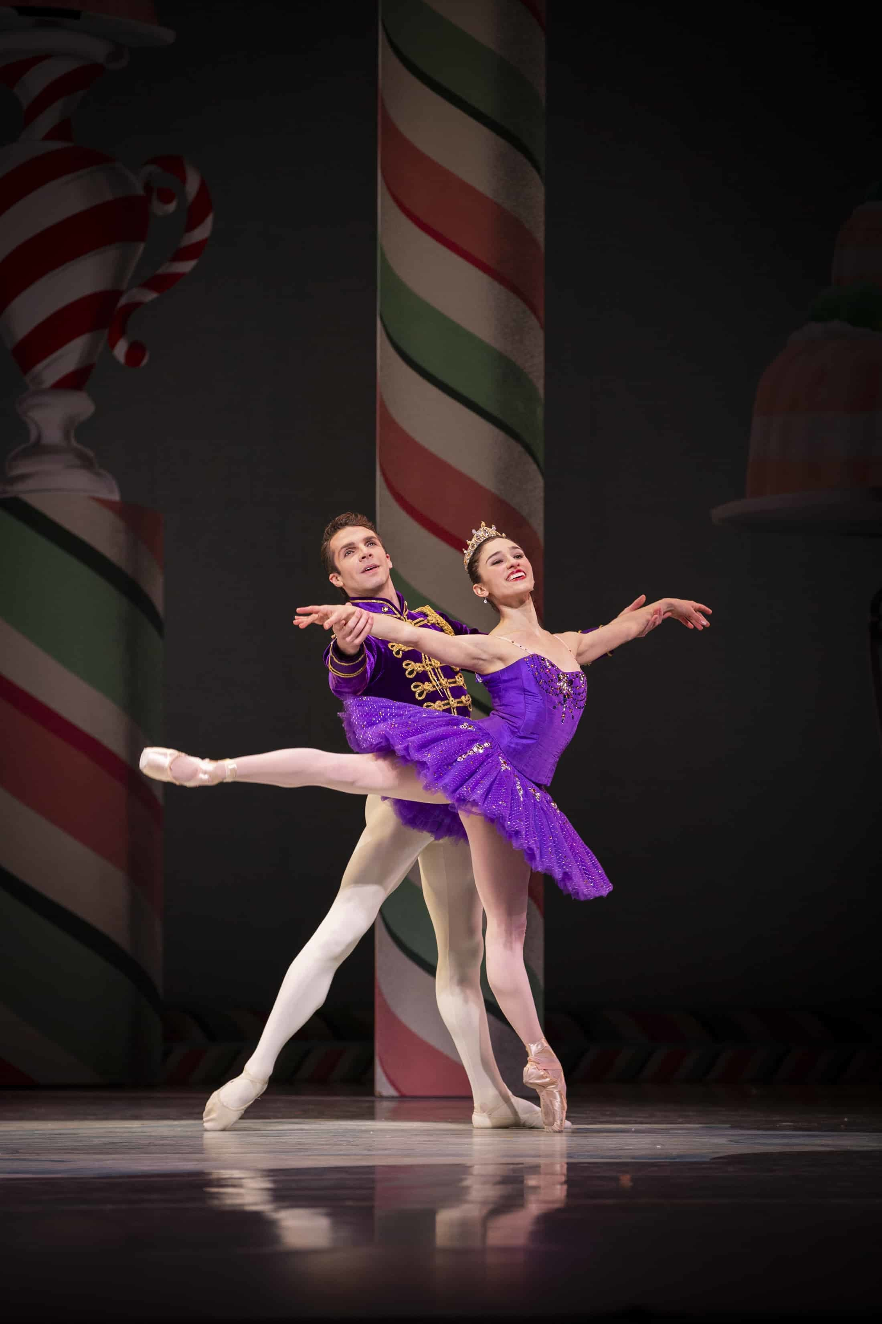 Sugarplum and her Cavalier. George Balanchine's The Nutcracker®, choreography by George Balanchine © The George Balanchine Trust. Photo © Angela Sterling.