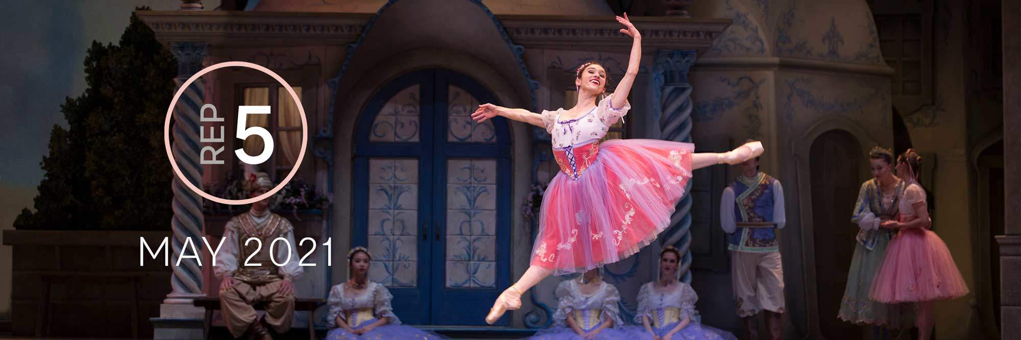 Rep 5, May 2021: Leta Biasucci dancing in Alexandra Danilova and George Balanchine's Coppelia.
