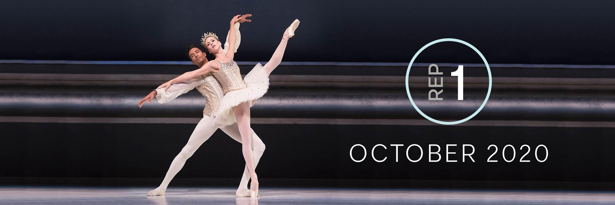 Rep 1, October 2020: Lesley Rausch and Karel Cruz dancing in George Balanchine's Jewels.